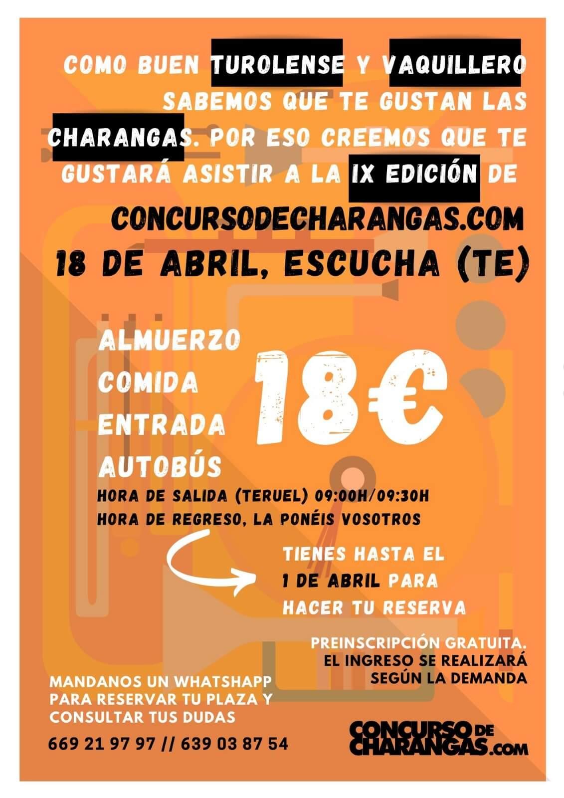 Autobús desde Teruel. Concurso de Charangas de Escucha (Teruel)